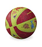 Crocodile Creek Dinosaurs Kid-Sized Basketball, Lime Green/Red, 5.5'