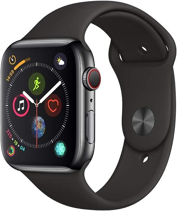 Apple Watch Series 4 苹果 智能手表 44毫米 不锈钢表壳(GPS+蜂窝数据版)5.3折$399 海淘转运关税补贴到手约¥2948 国内¥5199