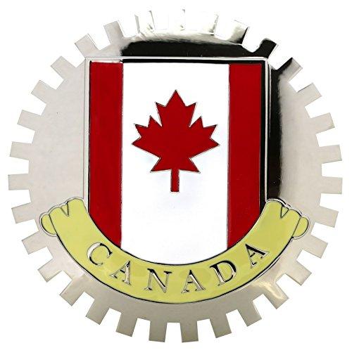 FLAG OF CANADA-CAR GRILLE EMBLEM BADGES