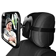 Baby Car Mirror,Baby Safety Car Backseat Mirror Wide Angel Crystal Clear View Back Seat Shatterproof Mirror Monitor Your Rear Facing Infant When You are Driving