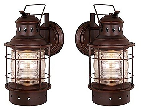 One Light Outdoor Wall Light OW37051BBZ One Light Outdoor Wall Light - 2 Pack