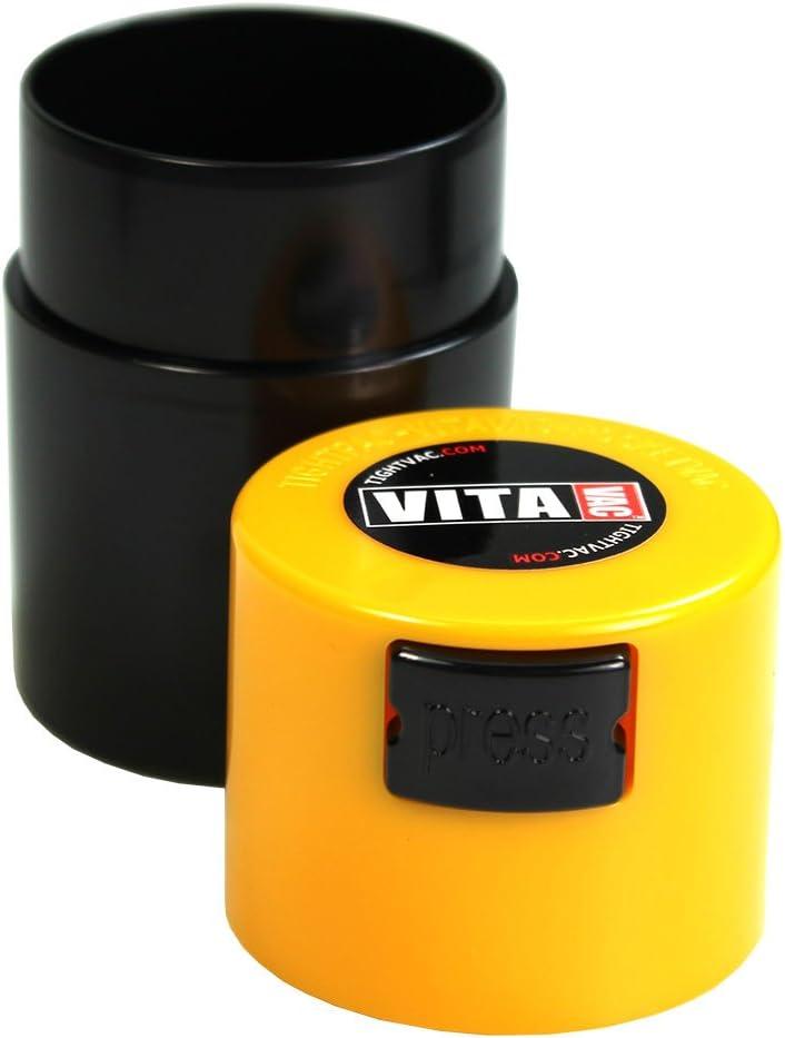 Gelber Deckel Vakuumgef/ä/ß 0,06L Schwarz