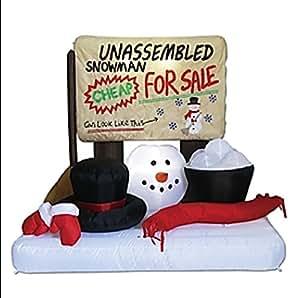 Amazon Com Christmas Inflatable Unassembled Snowman