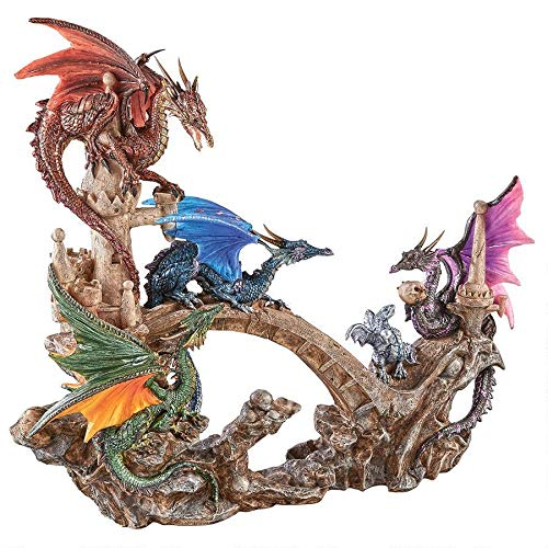 Design Toscano Battle of Valhalla Dragon Statue, Full Color