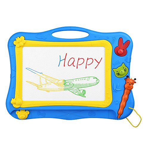 Magna Seal - Magnetic Drawing Board - Elovtop Colorful Magna Doodle Drawing Board Toys for Children Learning & Education (Blue)