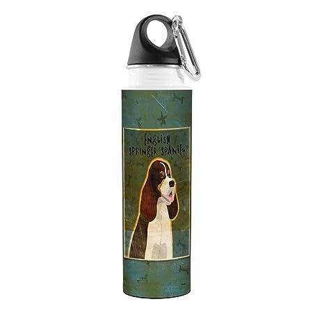 Golden Artful Traveler Stainless Steel Water Bottle Tree-Free Greetings VB48013 John W 18-Ounce Tri-Color English Springer Spaniel