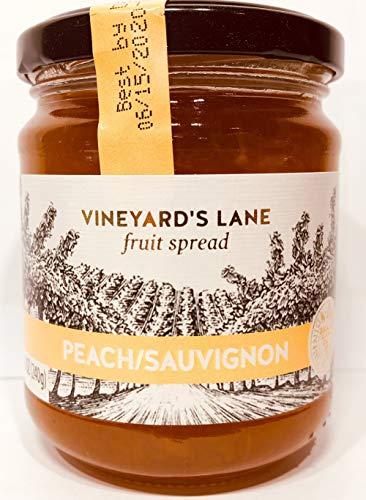 Vineyard's Lane Fruit Spread, Wine Flavored, 8.5oz Jar (Peach/Sauvignon)