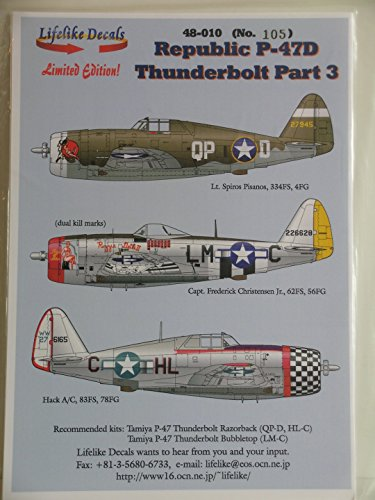 """Lifelike Decals 1/48 Scale """"Republic P-47D Thunderbolt for sale  Delivered anywhere in USA"""