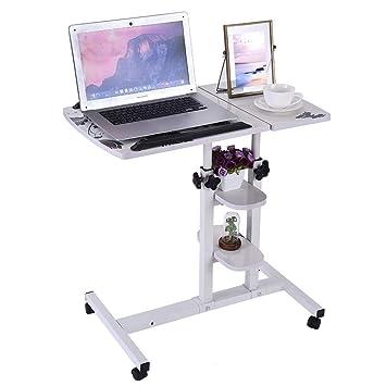 Transser - Mesa de pie portátil con ruedas, altura ajustable ...