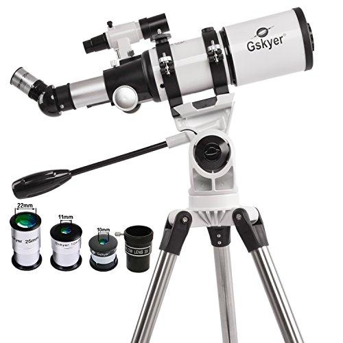 - Gskyer Telescope 80mm AZ Space Astronomical Refractor Telescope, German Technologyx 40mm, White