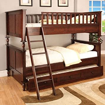 Amazon Milton Twin over Twin Bunk Bed with Ladder Kitchen