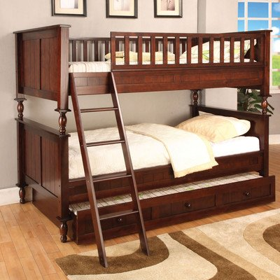 Hokku Designs Milton Twin Over Twin Bunk Bed With Ladder