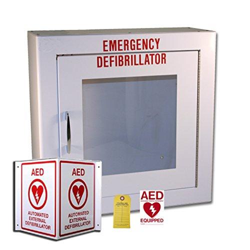 [해외]First Voice AEDMK01 AED 표면 실장 저장 및 라벨링 키트 (비상 사태)/First Voice AEDMK01 AED Surface Mount Storage and Labeling Kit (Non-ala