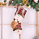 Supply Christmas Decorative Supplies Lattice Christmas Stockings Santa Claus Snowman Elk Gift Bag Old man
