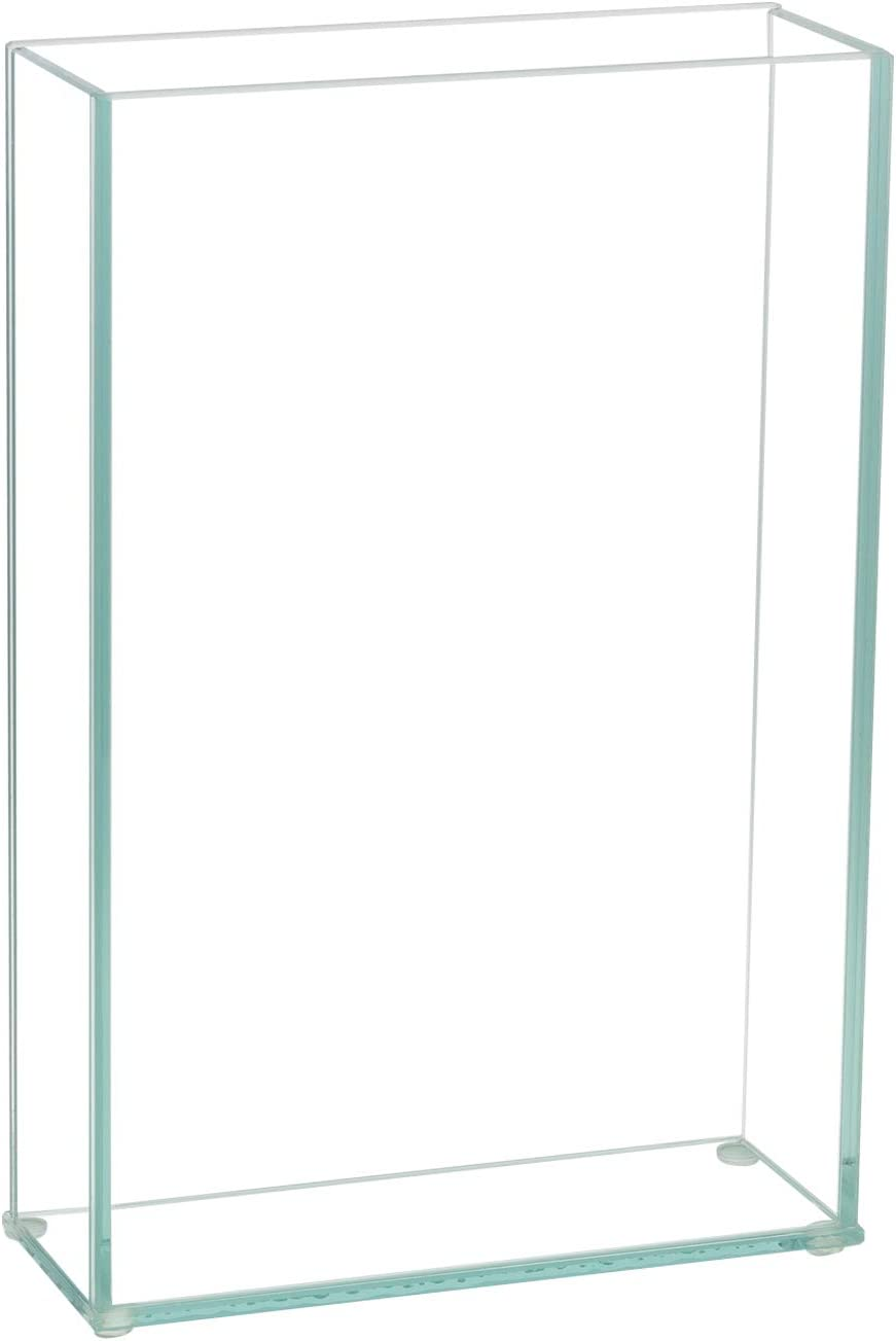"""Royal Imports Flower Glass Vase Decorative Centerpiece for Home or Wedding Flat Rectangle Plate Glass, 8"""" W x 12"""" H, Clear"""
