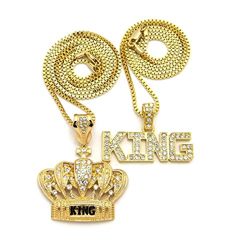 MENS KING CROWN BLACK & GOLD, KING