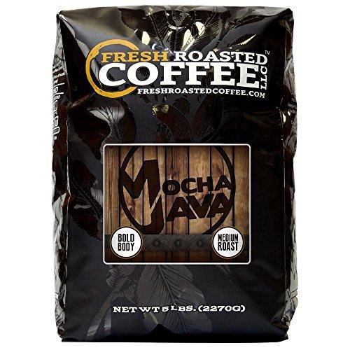 Mocha Java Coffee, Whole Bean, Fresh Roasted Coffee LLC. (5 lb.)