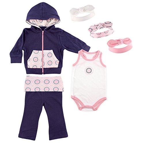 yoga-sprout-girls-jacket-bodysuit-pant-and-3-headbands-set-ornamental-3-6-months