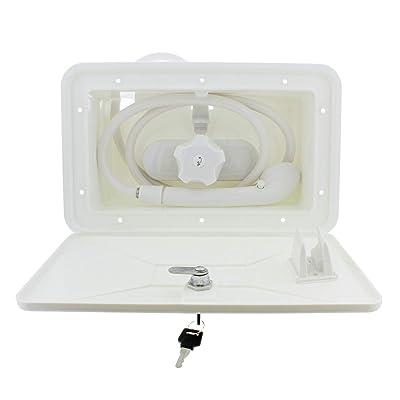 Empire Brass SHWRBOX-1-WHT Exterior RV Shower Box Kit (White),1 Pack: Automotive
