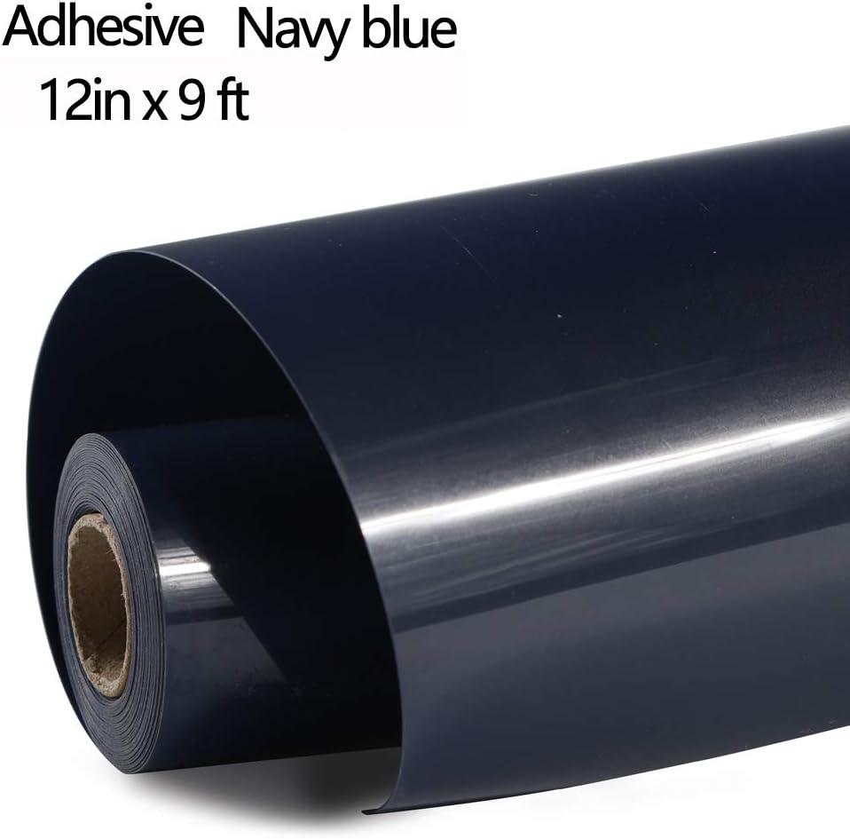 Black FUNKAKA HTV Vinyl Rolls Black Iron on Vinyl PVC Adhesive HTV 12 Inch X 9 Feet Heat Transfer Vinyl Easy to Cut /& Weed DIY Heat Press Design for T-Shirt