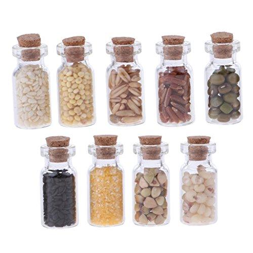 Amazon.es: IPOTCH 9 Unids 1:12 Miniaturas Frasco de Cristal de Comidas Secas Accesorios de Cocina de Casa de Muñecas: Juguetes y juegos