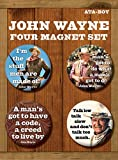 Ata-Boy John Wayne Quotes Round Magnet Set