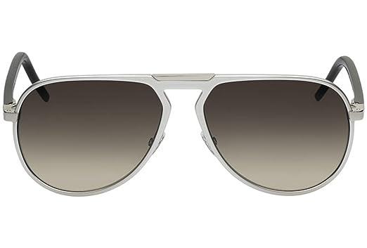 ec1e4b4a3f2 Amazon.com  Dior Homme AL13.2 53J JD Silver AL13.2 Butterfly Sunglasses  Lens Category 3  Clothing