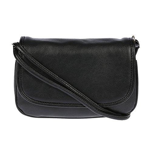 Kleine Umhängetasche Handtasche Abendtasche Kunstleder , Farbwahl (schwarz)