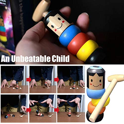 WAQIA Oh 1set Immortal Unbreakable Wooden Man Magic Toy Magic Tricks Funny Toy for Kids Children