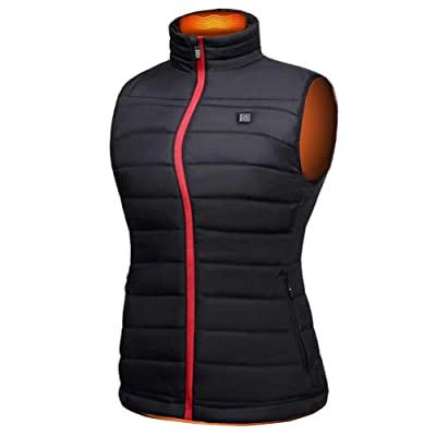 UTUZHE Smartest Bettery Heated Vest Women Filled with Cotton Heated Clothing Washable at Women's Coats Shop