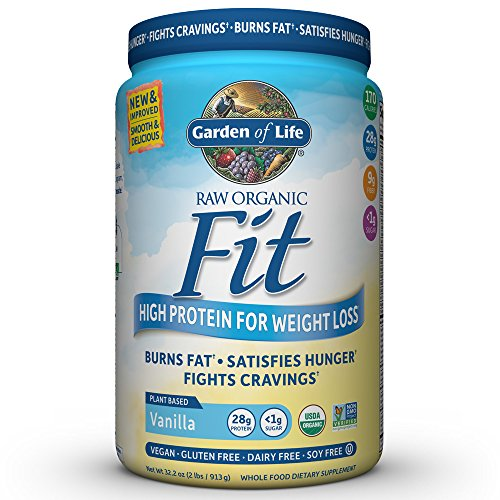 Garden of Life Organic Meal Replacement - Raw Organic Fit Vegan Nutritional Shake for Weight Loss, Vanilla, 32.2oz (913g) Powder