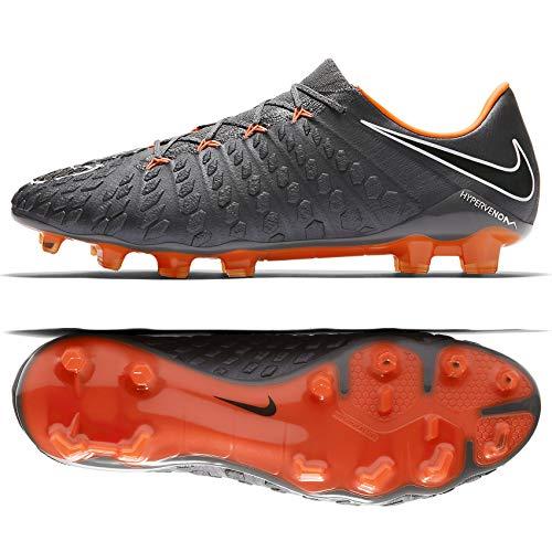 8e09f4c2323a Nike Hypervenom Phantom III Elite FG AH7273-081 Grey/Orange Men's Soccer  Cleats (9.5)