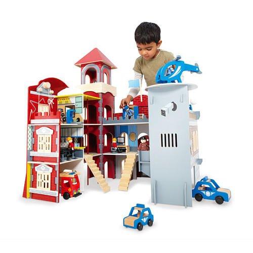 Imaginarium Police Station Fire House (Interlocking Rings Stations)