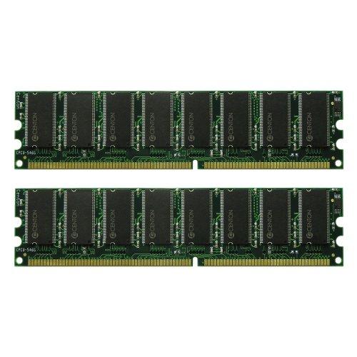 Centon 2GBDUALPC3200 2GB PC3200 400 MHz DDR DIMM Memory Kit