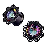 0 gauge plugs lotus - Qmcandy 2pcs 0g-1
