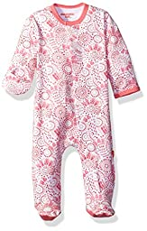 Magnificent Baby Girls\' Magnetic Footie, Modern Mosaic, NB