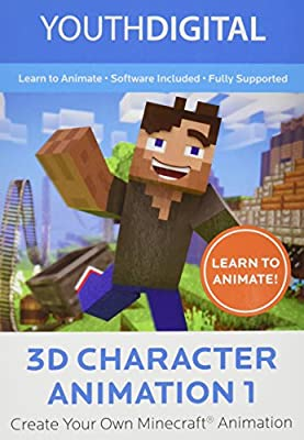 3D Character Animation 1 – Kids Ages 8-14 Learn to Create Their Very 3D Minecraft ® Animated Movie (PC Online Game Code)) [Online Code]