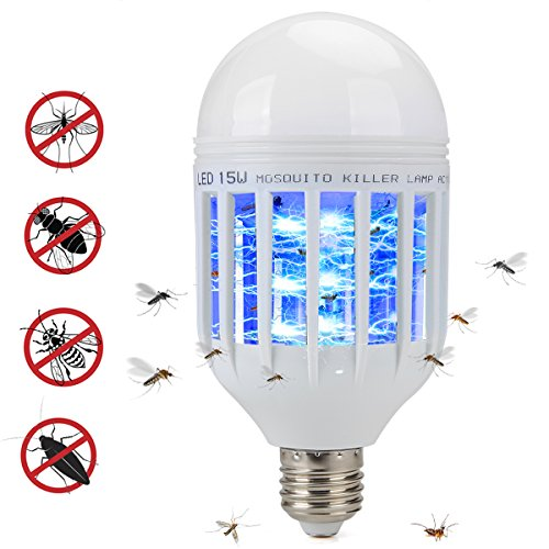 Bug Zapper Light Bulb 2 in 1 Pest Repellent, Mosquito Killer Lamp, Fly Killer, Electronic Insect Light Trap for Home Indoor Outdoor Porch Patio Garden White by Mothga (Image #6)