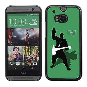 YiPhone /// Prima de resorte delgada de la cubierta del caso de Shell Armor - Funny Ihi - HTC One M8