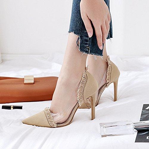 ZHZNVX Die neuen denim Fluss von High Heels und stilvolles Licht ist fein mit High Heels Sandalen