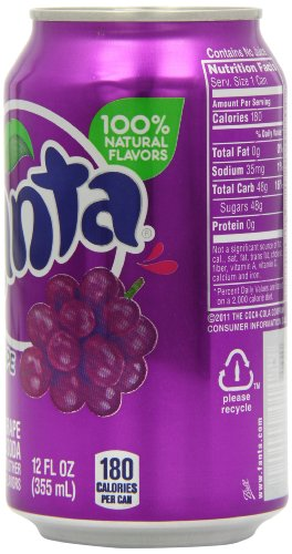 Fanta Grape Soda 12 Oz Can Pack Of 24 Buy Online In