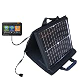 Gomadic SunVolt Powerful and Portable Solar Charger suitable for the Rand McNally Intelliroute TND 510 710 720 - Incredible charge speeds for up to two devices