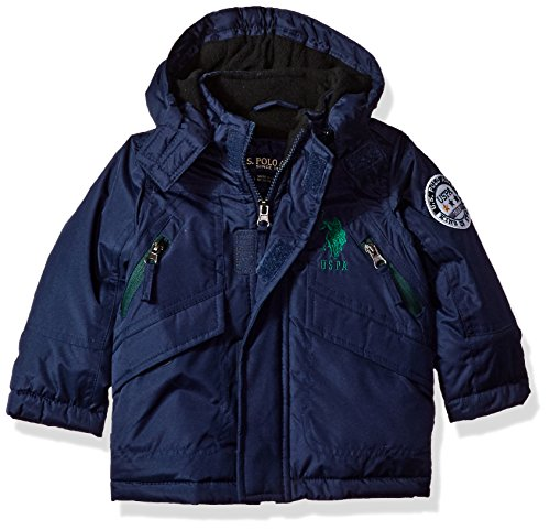 US Polo Association Baby Boys' Outerwear Jacket (More Styles Available), UC09-Navy, 12M
