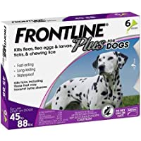 Frontline Plus for Dogs Large Dog (45 to 88 pounds) Flea and Tick Treatment (3 or 6 dose)