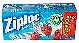 Ziploc Double Zipper Gallon Storage Bags - 52 count by Ziploc