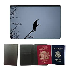 Hot Style PU Leather Travel Passport Wallet Case Cover // M00108070 Bird Nature Winter // Universal passport leather cover