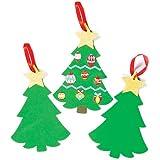 Alberi di Natale in Gommapiuma da Decorare e Appendere (confezione da 6)