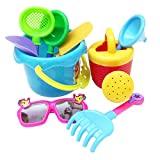 MagiDeal 9pcs Sand Water Beach Sandpits Toy Tools Kits Bucket Shovel Rake Glasses Watering Can for Baby, Kids and Toddler Play Gift
