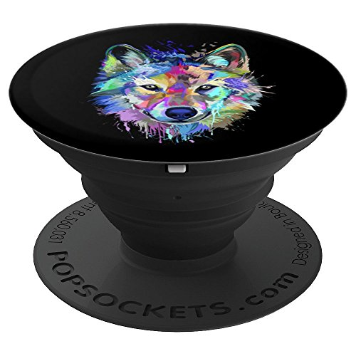 Splash Art Wolf Gifts for Wolf lovers - PopSockets Grip and Stand for Phones and Tablets