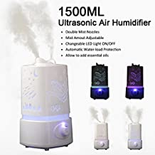 Ryham 1500ml 1.5l essence Ultrasonic Humidifier LED color aroma oil diffuser air changes diffusing R cleaner lo Erato meters zer
